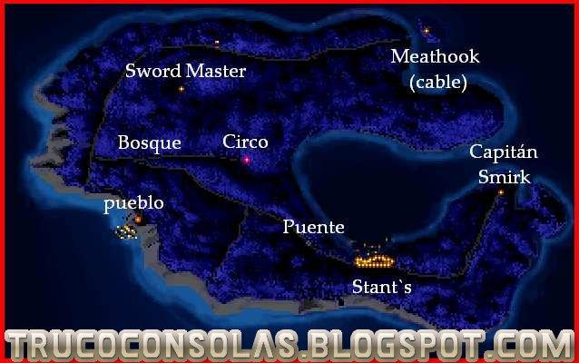 Mapa 1 The Secret of Monkey Island