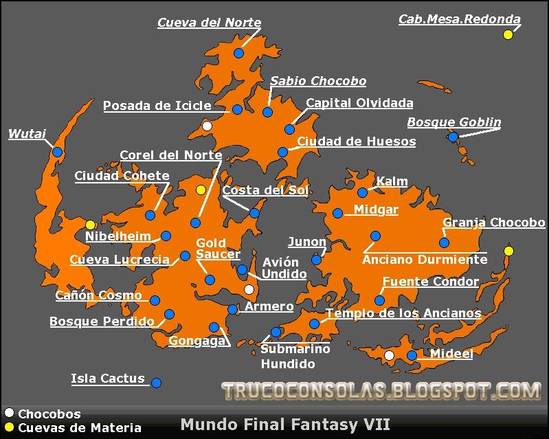 mapa final fantasy vii
